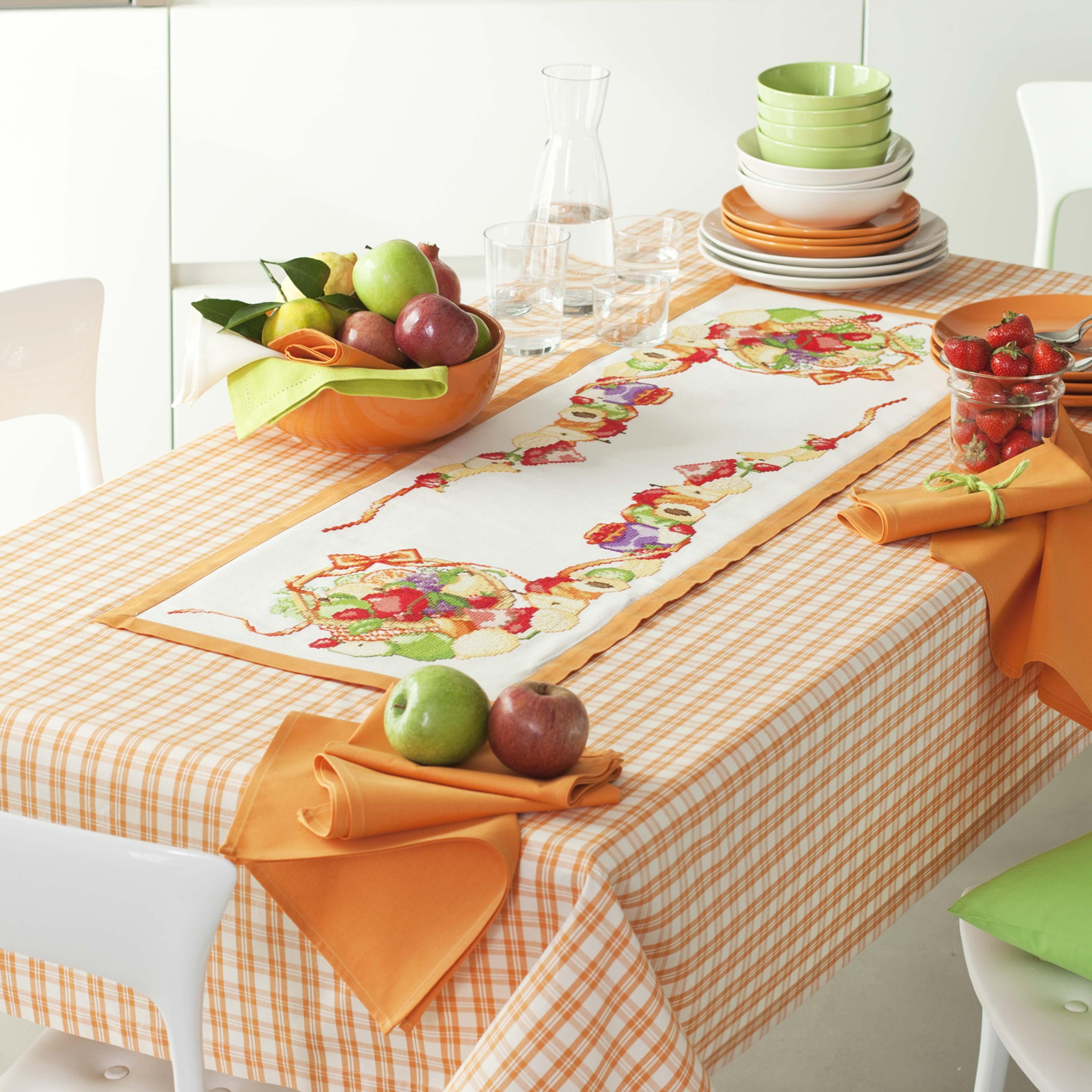 Schemi a punto croce per lenzuolini asciugamani bavaglini - Disegni punto croce per tovaglie da tavola ...