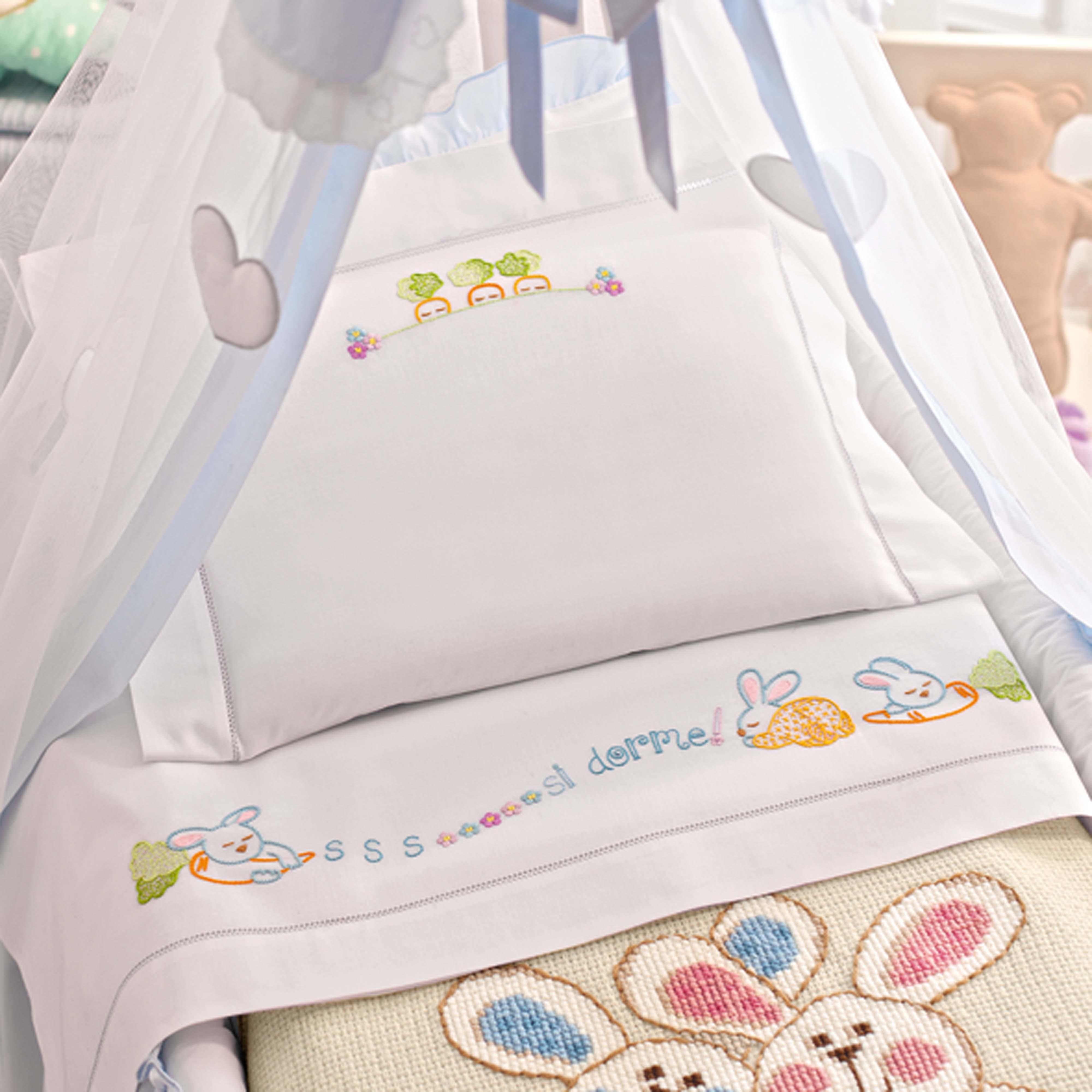 Disegno carta per lenzuolino culla, punti vari